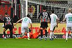 06.10.2019, Commerzbankarena, Frankfurt, GER, 1. FBL, Eintracht Frankfurt vs. SV Werder Bremen, <br /> <br /> DFL REGULATIONS PROHIBIT ANY USE OF PHOTOGRAPHS AS IMAGE SEQUENCES AND/OR QUASI-VIDEO.<br /> <br /> im Bild: Jiri Pavlenka (#1, SV Werder Bremen), pariert dann erzielt Andre Silva (Eintracht Frankfurt #33) das Tor zum 2:1<br /> <br /> Foto © nordphoto / Fabisch