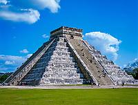Mexiko, Yucatan, Chichen Itza: Kukulkan-Pyramide | Mexico, Yucatan, Chichen Itza: El Castillo
