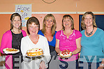 Niamh Quinn, Joan Walsh, Audrey O'Sullivan, Sheila McCarthy and Mary Mahony with some cakes on offer at the Castleisland sale of work in Castleisland Community Centre on Friday night.