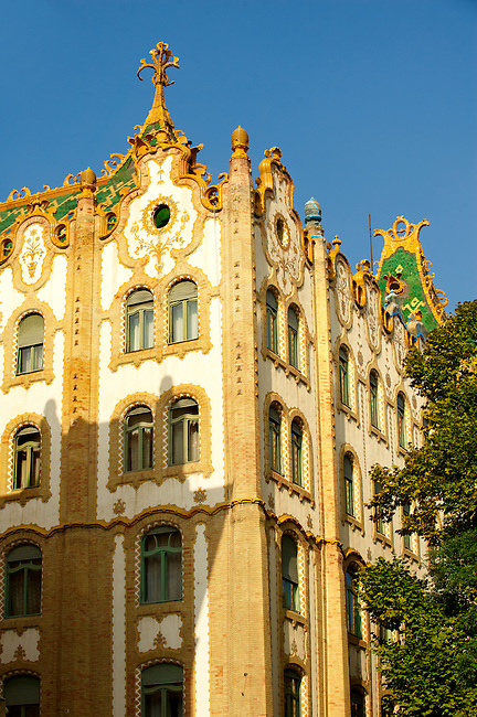 The Sucession  Postal Savings Bank building (Postatakarékpénztár) designed by Ödön Lechner. Budapest, Hungary