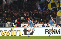 Football, Serie A: S.S. Lazio - Juventus Olympic stadium, Rome, December 7, 2019. <br /> Lazio's Luis Felipe (l) celebrates after scoring during the Italian Serie A football match between S.S. Lazio and Juventus at Rome's Olympic stadium, Rome on December 7, 2019.<br /> UPDATE IMAGES PRESS/Isabella Bonotto
