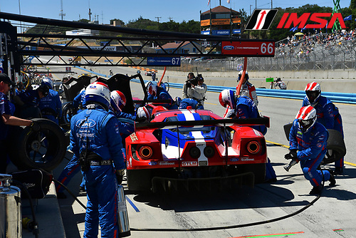 29 April - 1 May, 2016, Monterey, California USA<br /> 66, Ford GT, GT, GTLM, Joey Hand, Dirk Muller<br /> &copy;2016, Richard Dole<br /> LAT Photo USA
