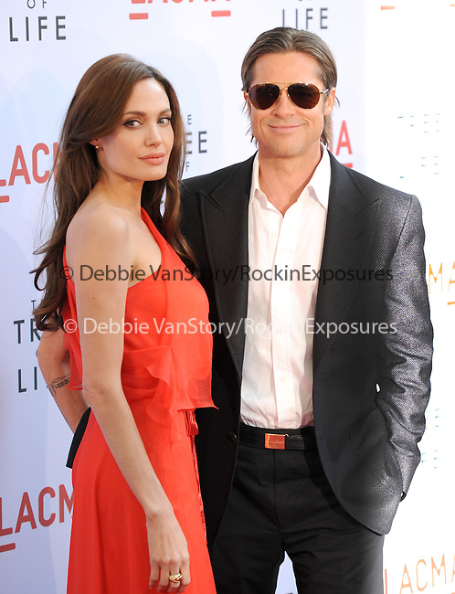 Angelina Jolie and Brad Pitt at The Fox Searchlight L.A. Premiere of The Tree of Life held at The Bing Theatre at LACMA in Los Angeles, California on May 24,2011                                                                               © 2011 Hollywood Press Agency