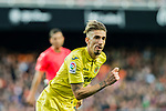 Samuel Castillejo Azuaga, Samu Castillejo, of Villarreal CF reacts during the La Liga 2017-18 match between Valencia CF and Villarreal CF at Estadio de Mestalla on 23 December 2017 in Valencia, Spain. Photo by Maria Jose Segovia Carmona / Power Sport Images
