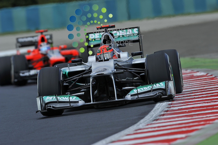 Formula 1 Race 11, GP of Hungary, Budapest - 27.-29. Juli 2012.Michael Schumacher (GER), Mercedes GP ..Picture :Hasan Bratic/Universal News And Sport (Europe) 27 July 2012