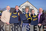 SPONSORS: Members of Farranfore Maine Valley Athletic Club receiving new singlets from their sponsors, Liam Lynch Car Sales, l-r: Jer Crowley, Mark O'Shea, Arthur Fitzgerald, Liam Lynch, Jim O'Shea.