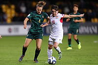 Aurora Galli of Italy and Teona Bakradze of Georgia compete for the ball<br /> Benevento 08-11-2019 Stadio Ciro Vigorito <br /> Football UEFA Women's EURO 2021 <br /> Qualifying round - Group B <br /> Italy - Georgia<br /> Photo Cesare Purini / Insidefoto