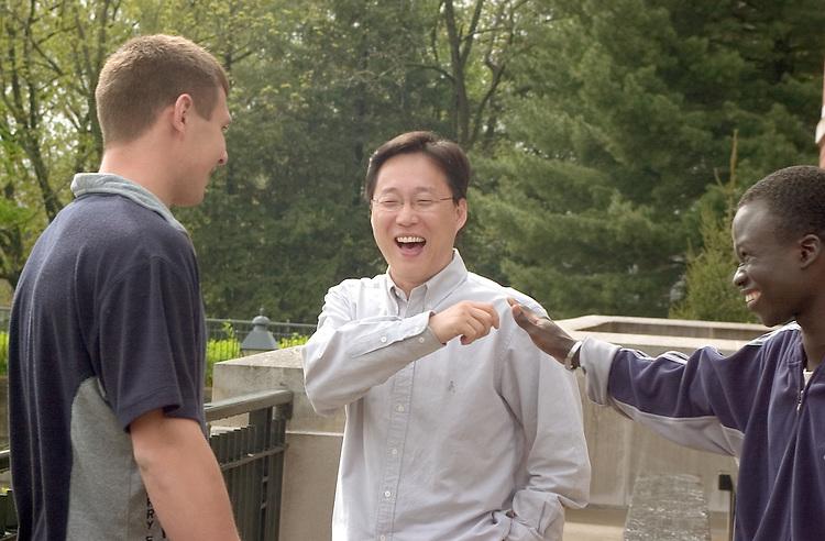Ivan Nadtoka(white)..Kyu-Sang Kyung(asian)..Bado Niamboue(african)