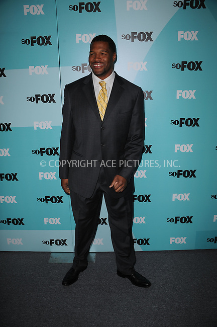 WWW.ACEPIXS.COM . . . . . ....May 18 2009, New York City....Michael Strahan attending the 2009 FOX UpFront after party at the Wollman Rink in Central Park on May 18, 2009 in New York City.....Please byline: KRISTIN CALLAHAN - ACEPIXS.COM.. . . . . . ..Ace Pictures, Inc:  ..tel: (212) 243 8787 or (646) 769 0430..e-mail: info@acepixs.com..web: http://www.acepixs.com
