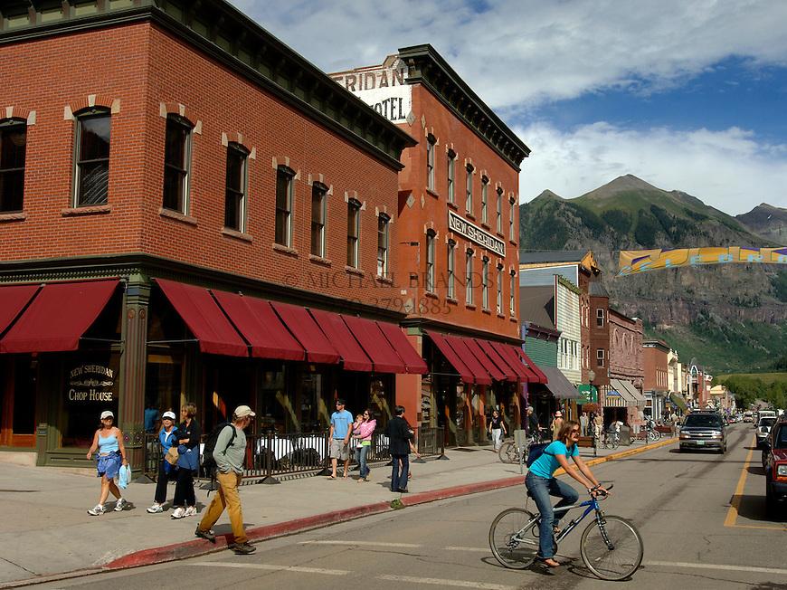 Colorado Avenue, Telluride's Main Street. © Michael Brands. 970-379-1885.