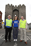Drogheda Independent Sportstar of the year Amy McTeggart pictured with Michael Grogan and Brian Lambe, launches the Saint Vincent de Paul run which takes place on Sunday next 18th March. Photo: Colin Bell/pressphotos.ie