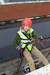 Nicola Winters at the DAR abseil off the D Hotel..(Photo credit should read Jenny Matthews www.newsfile.ie)....This Picture has been sent you under the conditions enclosed by:.Newsfile Ltd..The Studio,.Millmount Abbey,.Drogheda,.Co Meath..Ireland..Tel: +353(0)41-9871240.Fax: +353(0)41-9871260.GSM: +353(0)86-2500958.email: pictures@newsfile.ie.www.newsfile.ie.