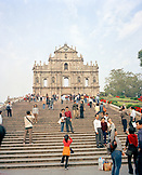 CHINA, Macau, Asia, Ruins of St. Paul, 17th century, Cathedral, UNESCO world heritage site, catholic