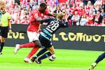 Herthas Fabian Lustenberger im Zweikampf mit dem Mainzer Jean -Philippe Mateta<br />  beim Spiel in der Fussball Bundesliga, 1. FSV Mainz 05 - Hertha BSC.<br /> <br /> Foto &copy; PIX-Sportfotos *** Foto ist honorarpflichtig! *** Auf Anfrage in hoeherer Qualitaet/Aufloesung. Belegexemplar erbeten. Veroeffentlichung ausschliesslich fuer journalistisch-publizistische Zwecke. For editorial use only.