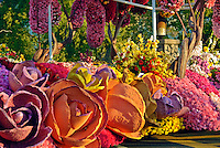 Colorful, Giant Rose, Flower Display,  Rose Parade Float,