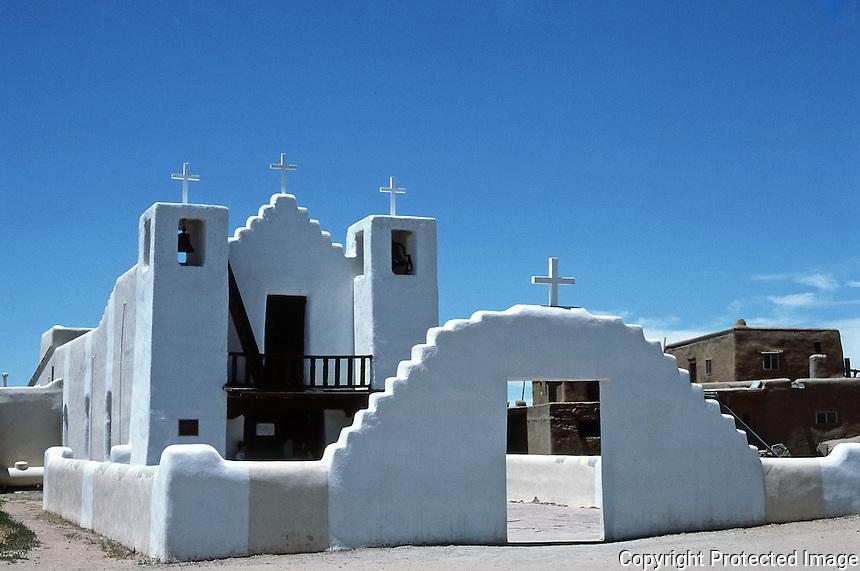 St. Jerome (San Geronimo) Catholic Chapel at Taos Pueblo, New Mexico