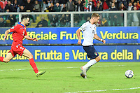 Italy's Ciro Immobile scores the 3-0 goal <br /> Palermo 18-11-2019 Stadio Renzo Barbera <br /> UEFA European Championship 2020 qualifier group J <br /> Italy - Armenia <br /> Photo Carmelo Imbesi / Insidefoto