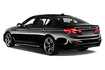 Car pictures of rear three quarter view of a 2018 BMW 5 Series base 4 Door Sedan angular rear