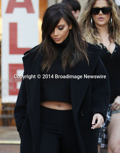 Pictured: Kim Kardashian, Khloe Kardashian<br /> Mandatory Credit &copy; ACLA/Broadimage<br /> Kim Kardashian out for lunch with mom Kris Jenner at Fins Seafood Grill in Westlake Village<br /> <br /> 2/4/14, Westlake Village, California, United States of America<br /> <br /> Broadimage Newswire<br /> Los Angeles 1+  (310) 301-1027<br /> New York      1+  (646) 827-9134<br /> sales@broadimage.com<br /> http://www.broadimage.com