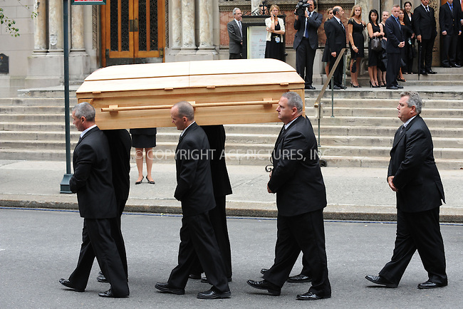 WWW.ACEPIXS.COM . . . . . ....July 23 2009, New York City....Pallbearers carry the casket of well-known reporter Walter Cronkite at his funeral service on July 23, 2009 in New York City. Cronkite died last Friday, July 17, at his Manhattan apartment at the age of 92.....Please byline: KRISTIN CALLAHAN - ACEPIXS.COM.. . . . . . ..Ace Pictures, Inc:  ..tel: (212) 243 8787 or (646) 769 0430..e-mail: info@acepixs.com..web: http://www.acepixs.com