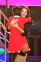 www.acepixs.com<br /> <br /> January 27 2017, Borehamwood<br /> <br /> Jessica Cunningham (R) is evicted from the Celebrity Big Brother house at Elstree Studios on January 27, 2017 in Borehamwood, England. <br /> <br /> By Line: Famous/ACE Pictures<br /> <br /> <br /> ACE Pictures Inc<br /> Tel: 6467670430<br /> Email: info@acepixs.com<br /> www.acepixs.com