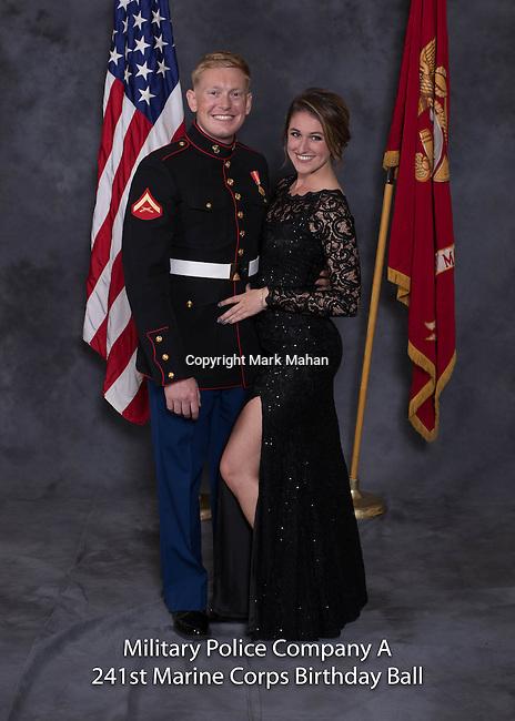 Joseph Norcia at the Military Police Company A 241 Marine Corps Birthday Ball, Saturday Nov. 19, 2016  in Lexington, Ky. Photo by Mark Mahan