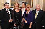 John and Geraldine O'Mahony, Dr Patricia Mangan, Peggy and Paul Coghlan,Killarney,  at the Skål International Kerry Ball in The Malton Hotel, Killarney on Saturday night. Picture: Eamonn Keogh (MacMonagle, Killarney).