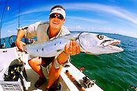 great barracuda, .Sphyraena barracuda, .Stiltsville, Biscayne National Park, .Florida (Atlantic).