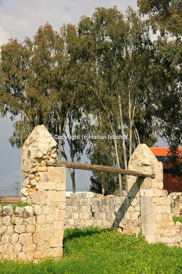 Israel, Sharon region. Remains of Kasar farm at Hayarkon National Park