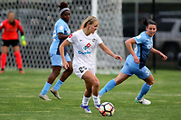 Piscataway, NJ - Sunday April 30, 2017: Brittany Ratcliffe and Erin Simon during a regular season National Women's Soccer League (NWSL) match between Sky Blue FC and FC Kansas City at Yurcak Field.