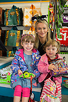 Dealz Fonthill Road .  Leah Creighton (Staff) with Sisters Hazel (5) and Esther (3) Lacey from Lucan
