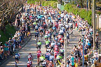 Picture by SWpix.com - 05/05/2018 - Cycling - 2018 Tour de Yorkshire - Stage 3: Richmond to Scarborough - The peloton goes through Filey