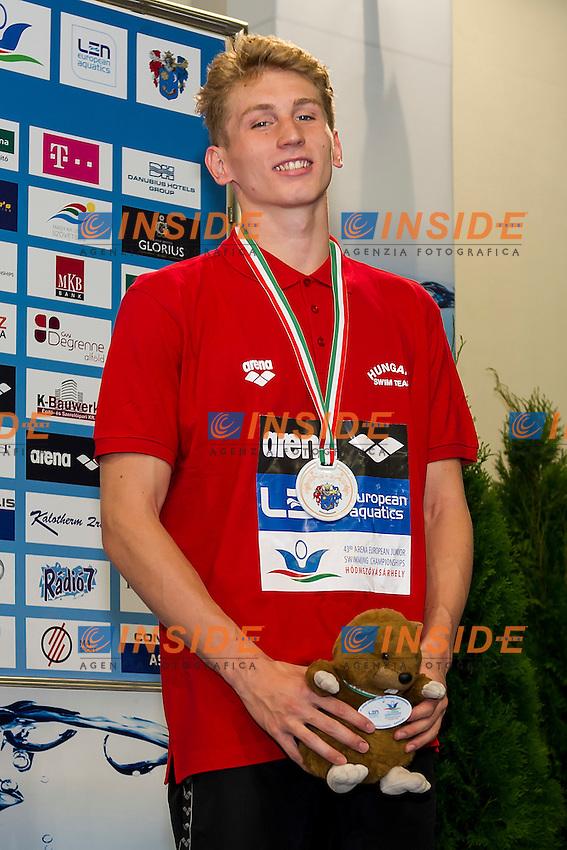Marton Richard HUN<br /> 400 Freestyle Men Final Bronze Medal<br /> LEN 43rd Arena European Junior Swimming Championships<br /> Hodmezovasarhely, Hungary <br /> Day01 06-07-2016<br /> Photo Andrea Masini/Deepbluemedia/Insidefoto