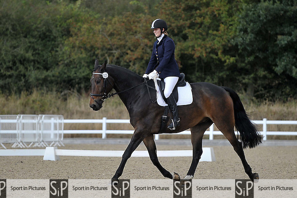 Class 5. Unaffiliated dressage. Brook Farm Training Centre. Essex. 08/10/2016. MANDATORY Credit Garry Bowden/Sportinpictures - NO UNAUTHORISED USE - 07837 394578
