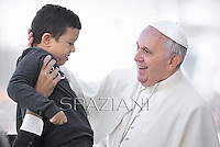 Pope Francis during his weekly general audience in St. Peter square at the Vatican, Wednesday.23 October  2013