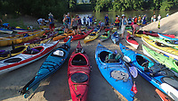 Paddlers get ready for a day on the Root River in southeast Minnesota.