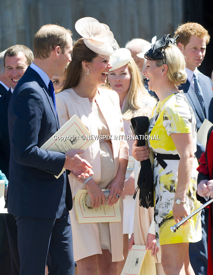 KATE EXPECTING 2ND CHILD<br /> Kensington Palace has confirmined that the Duke and Duchess of Cambridge are expecting their second child.<br /> <br /> PRINCE WILLIAM, KATE MIDDLETON AND ZARA (nee Phillips) TINDALL<br /> joined other members of the Royal Family for  A Service to Celebrate the Queen's 60th Anniversary of the Coronation Service at Westminster Abbey, London_04/06/2013<br /> Members of the Royal Family attending the Service included The Prince of Wales and The Duchess of Cornwall, The Duke and Duchess of Cambridge, Prince Henry of Wales, The Duke of York and Princesses Beatrice and Eugenie, The Earl and Countess of Wessex and The Lady Louise Mountbatten-Windsor, The Princess Royal, Vice Admiral Sir Tim Laurence, Peter Phillips and Autumn (Kelly) Phillips, Zara (Phillips) Tindall and Mike Tindall, The Duke and Duchess of Gloucester, The Duke and Duchess of Kent, Prince and Princess Michael of Kent<br /> Mandatory Credit Photo: &copy;Francis Dias/NEWSPIX INTERNATIONAL<br /> <br /> **ALL FEES PAYABLE TO: &quot;NEWSPIX INTERNATIONAL&quot;**<br /> <br /> IMMEDIATE CONFIRMATION OF USAGE REQUIRED:<br /> Newspix International, 31 Chinnery Hill, Bishop's Stortford, ENGLAND CM23 3PS<br /> Tel:+441279 324672  ; Fax: +441279656877<br /> Mobile:  07775681153<br /> e-mail: info@newspixinternational.co.uk