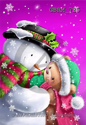 Roger, CHRISTMAS SANTA, SNOWMAN, paintings+++++,GBRM725,#X#