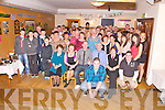 Neil O'Mahony, Minish, Killarney pictured with his family and friends as he celebrated his 21st birthday in Darby O'Gills hotel, Killarney on Friday night.