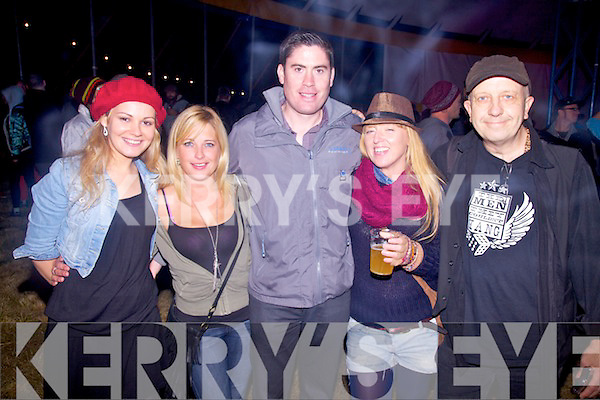 Party in the Big Top at the Valentia Isle Music Festival pictured here l-r; Mags Mahony, Lisa Fitzgerald, Joe McGill, Jo Jo Biliard & Seamus Collins.