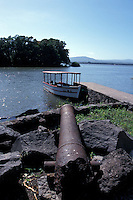 Rusting cannon at the Castillo San Pablo, an 18th-century Spanish fort in Lake Nicaragua, Las Isletas, Nicaragua