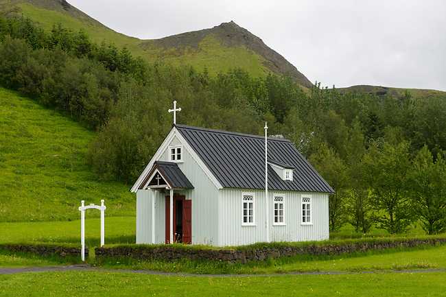 The church at the Skogar folk museum in southern Iceland.