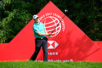 Russell Knox (SCO) on the 2nd  during the 1st round at the WGC HSBC Champions 2018, Sheshan Golf CLub, Shanghai, China. 25/10/2018.<br /> Picture Phil Inglis / Golffile.ie<br /> <br /> All photo usage must carry mandatory copyright credit (&copy; Golffile | Phil Inglis)