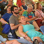 Audience members listening to, Brother Sun, performing on the Family Stage at the 29th Annual Falcon Ridge Folk Festival at Dodds Farm of N.Y. Route 22, north of Hillsdale,NY, on Saturday, August 5, 2017. Photo by Jim Peppler. Copyright/Jim Peppler-2017.