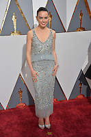 Daisy Ridley at the 88th Academy Awards at the Dolby Theatre, Hollywood.<br /> February 28, 2016  Los Angeles, CA<br /> Picture: Paul Smith / Featureflash