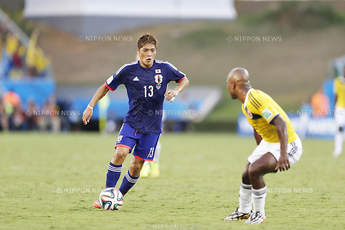 Yoshito Okubo (JPN), JUNE 24, 2014 - Football / Soccer : FIFA World Cup Brazil 2014 Group C match between Japan 1-4 Colombia at the Arena Pantanal in Cuiaba, Brazil. (Photo by AFLO)