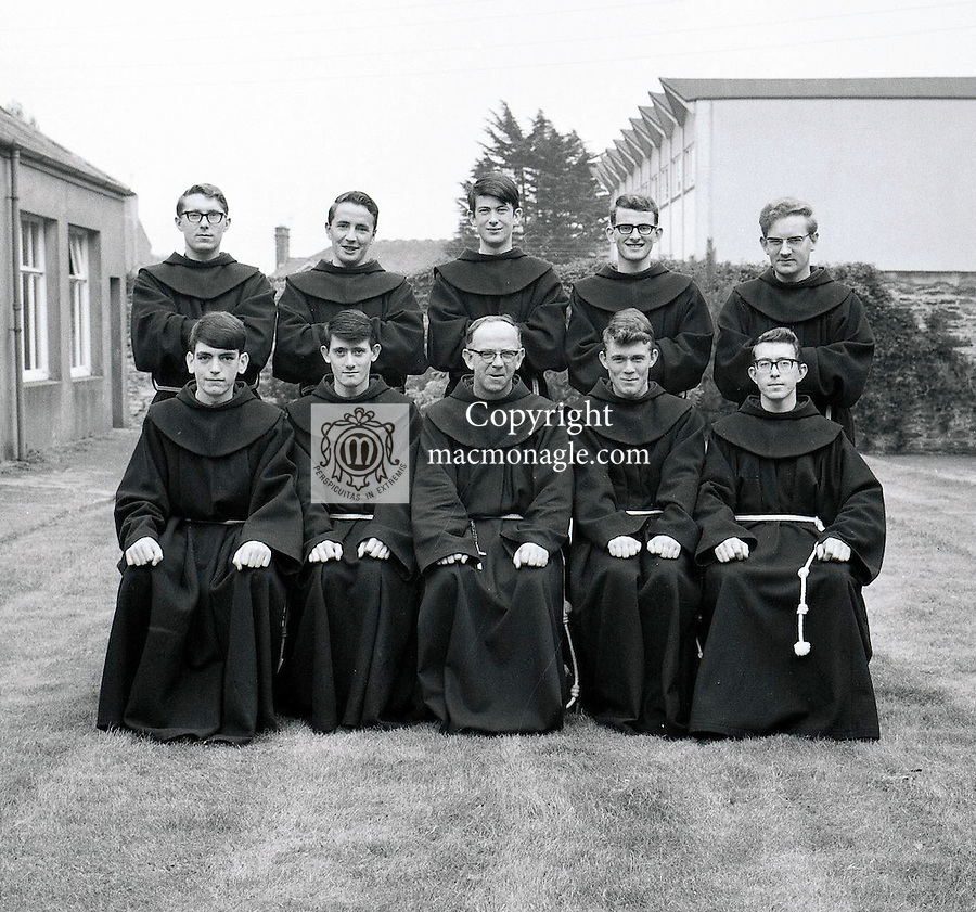 Novices at the Francisan Friary, Killarney 1970's..Picture by Donal MacMonagle