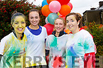 Splash<br /> ----------<br /> L-R Patricia Lynch, Aine McCarthy, Dianne O'Connor and Jennifer Lynch at the finish of the Colour fun run last Sunday evening at Brandon.