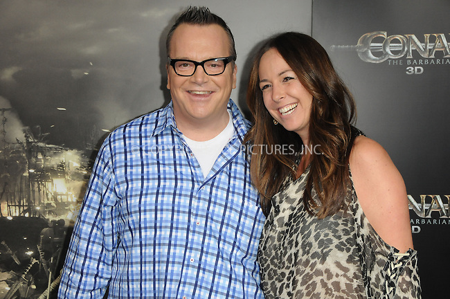 WWW.ACEPIXS.COM . . . . .  ....August 11 2011, LA....Actor Tom Arnold arriving at the premiere 'Conan The Barbarian' on August 11, 2011 in Los Angeles, California....Please byline: PETER WEST - ACE PICTURES.... *** ***..Ace Pictures, Inc:  ..Philip Vaughan (212) 243-8787 or (646) 679 0430..e-mail: info@acepixs.com..web: http://www.acepixs.com