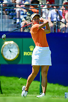 Suzann Pettersen (NOR) watches her tee shot on 1 during Sunday's final round of the 2017 KPMG Women's PGA Championship, at Olympia Fields Country Club, Olympia Fields, Illinois. 7/2/2017.<br /> Picture: Golffile | Ken Murray<br /> <br /> <br /> All photo usage must carry mandatory copyright credit (&copy; Golffile | Ken Murray)